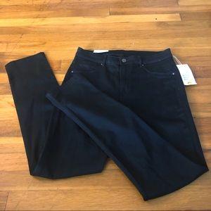 H&M High Waist Skinny Black Jeans Size 33 B